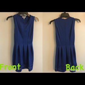 Royal Blue Dress w/ geometric cut outs